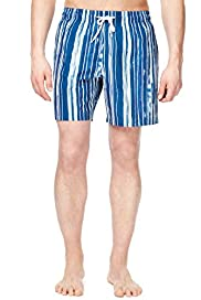 Blue Harbour Painted Striped Quick Dry Swim Shorts