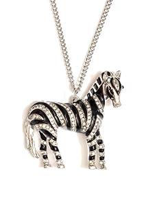 Zebra Necklace Black S...