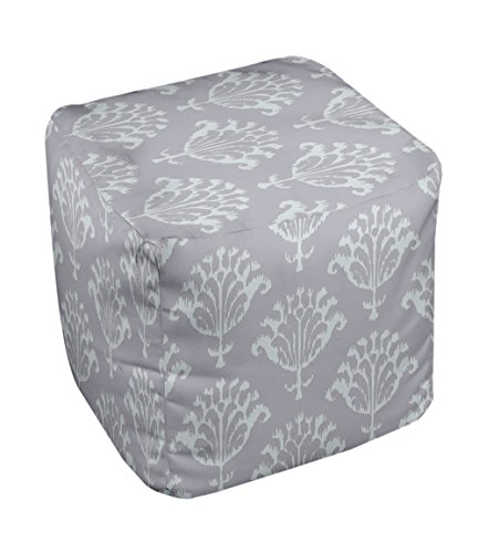 E by design FG-N16A-Rain_Cloud-18 Geometric Pouf