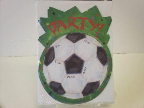16pc Soccer Party Invitations - Cards & Envelopes