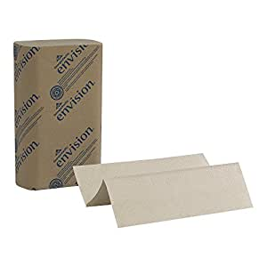 "Georgia-Pacific Envision 23304 Brown Multifold Paper Towel, 9.4"" Length x 9.2"" Width (Case of 16 Packs, 250 per Pack)"