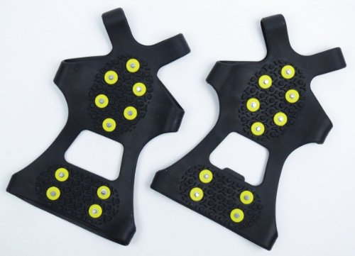 One-touch rubberized non-slip soles non-slip shoe spikes (L 26cm-29 cm black)