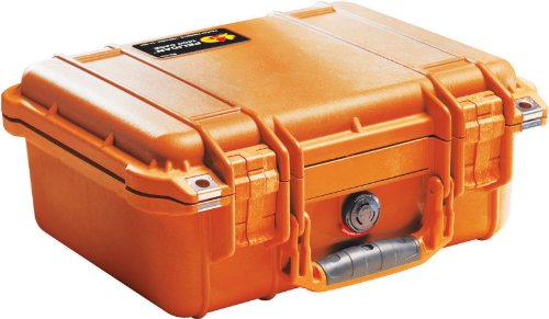 Pelican 1400 Case with Foam for Camera (Orange)