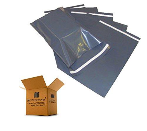 20sacchetti di 22,9x 30,5cm Forte Resistente Buste autoadesive, Flap, in polietilene per posta Corriere postale Imballaggio Sacchi uso-Ultra Premium qualità-piccolo, grigio (230x 310mm)-Signor Stationary® Range