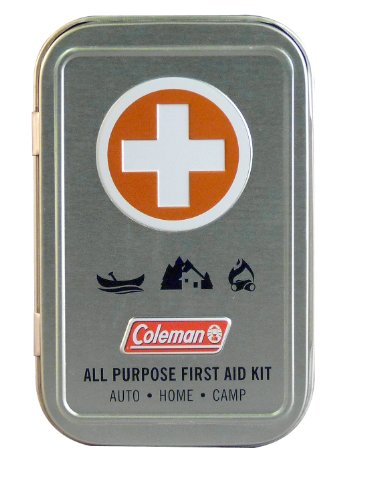 Coleman All Purpose First Aid Tin 27-Piece, Metal Tin