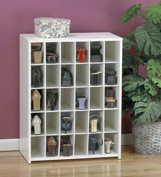 Sauder 30 Pair Women's Shoe Storage Cabinet WITH DOORS