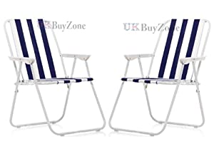 Striped Folding Beach Camping Fishing Chair Foldable Garden Outdoor Furniture (2)