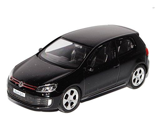 VW-Volkswagen-Golf-VI-GTI-3-Trer-Schwarz-2008-2012-143-Modellcarsonline-Sonderangebot-Modell-Auto-mit-individiuellem-Wunschkennzeichen