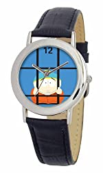 South Park Men's D1535SS001 Torino Collection Cartman Black Leather Watch