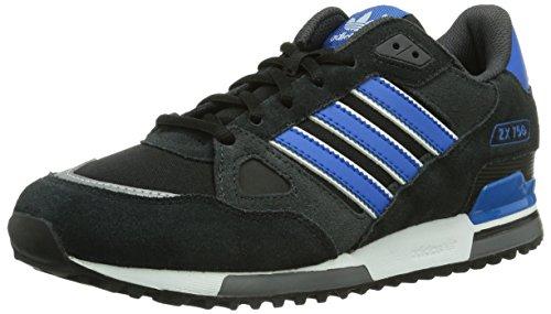 Adidas, ZX 750, Scarpe sportive, Uomo, Multicolore (C Black/BLUBIR/FTWWHT), 43 1/3