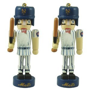New York Mets MLB Mini Nutcracker Christmas Ornament Set at Amazon.com