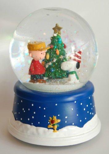 Musical Peanuts 50th Anniversary Snow Globe Hallmark