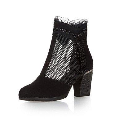 Stämmiger Absatz – Leder – FRAUEN – Booties / Stiefeletten – Spitzschuh/Modische Stiefel – Stiefel ( Schwarz ) jetzt kaufen