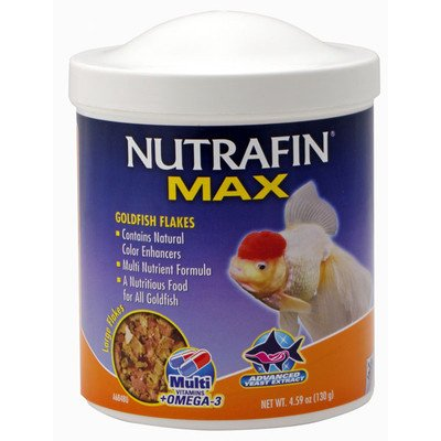 Nutrafin Max Goldfish Large Flakes, 4.59 Ounces