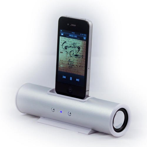 iSpeaker - Silver Portable Travel Speaker Dock