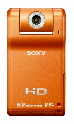 Sony MHS-PM1 High Definition SnapShot Camcorder with 5MP Camera & 4x Digital Zoom with 1.8 inch Screen - Orange