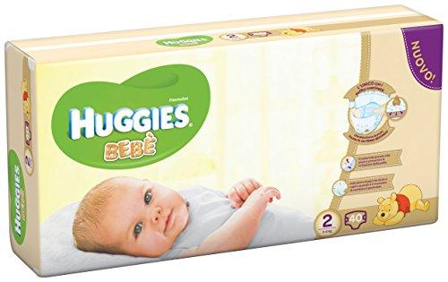 Huggies Bebè, 40 Pannolini, Taglia 2 (3-6 kg)