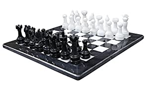 Marble Chess Set, Black/White