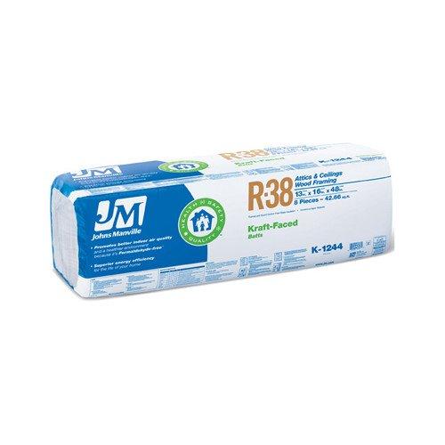 JOHNS MANVILLE INTL 90009579 R38 16x48 Kraft Batts (Johns Manville Insulation compare prices)