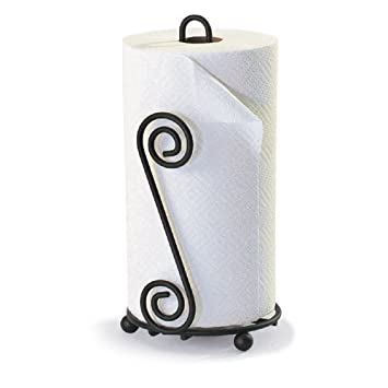 Wrought Iron Paper Towel Holder Decorative Cabinet, Wall, or Counter