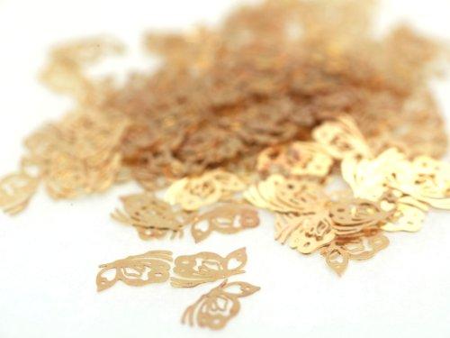 蝶 バタフライ 約6mm×3mm ゴールド ネイルアートパーツ 透かしパーツ ジェルネイル レジン デコ 埋め込み 素材