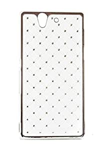 Purple Eyes Sparking Studed Glossy hard Back Case for Sony Xperia Z L36H White