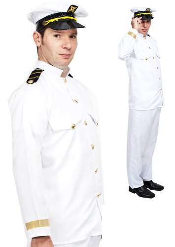 Captain Sailor Navy Officer Uniform Fancy Dress Medium