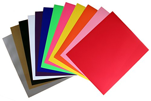 12 Color Heat Transfer Vinyl Starter Pack - 12 Sheets Each One 12 in x 10 in PU - HTV for Cricut and Silhouette (Heat Transfer Graphics compare prices)