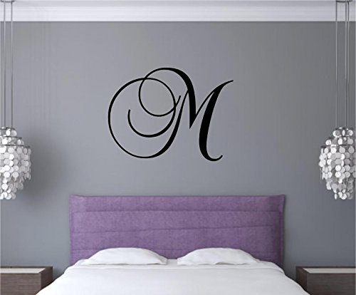 Monogram decal for wall