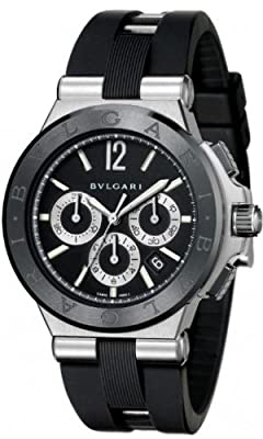 Bvlgari Diagono Chronograph Automatic Black Dial Mens Watch DG42BSCVDCH