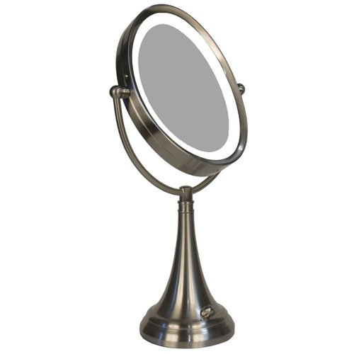 Zadro LEDOVLV410 LED Lighted 10X-1X Oval Table Top Vanity Mirror