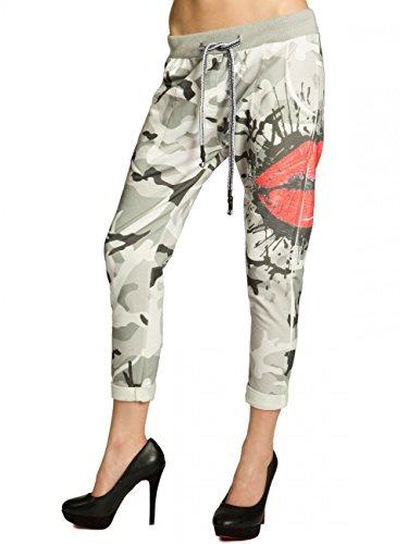 CASPAR Fashion -  Pantaloni  - Donna camouflage et baiser S/M