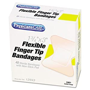 PhysiciansCARE First Aid Fingertip Bandages ACM12943
