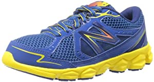 New Balance KJ750 Youth Lace-Up Running Shoe (Toddler/Little Kid/Big Kid),Blue/Yellow,1.5 M US Little Kid