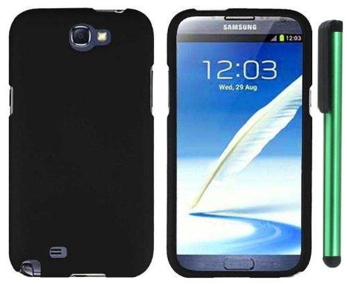 Buy  Black Design Protector Hard Cover Case for Samsung Galaxy Note II N7100 (AT&T, Verizon, T-Mobile, Sprint, U.S. Cellular) Android Smart Phone + Combination 1 of New Metal Stylus Touch Screen Pen (4