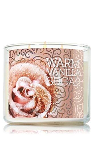 Bath & Body Works 3 Wick Candle 14.5 Oz Warm Vanilla Sugar Candle Bath