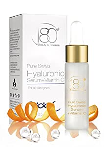 Mother's Day Gifts 180 Cosmetics Pure Swiss, Hyaluronic Acid Serum + Vitamin C - No Needles Needed & Highest Concentration of Hyaluronic Acid Skincare Line - Designed to Fill Fine Lines & Wrinkles to Plump Smooth & Hydrate For Younger Looking Skin. Anti Aging - Anti Wrinkle - Instant Lift Solution - Strengthen- Face Lift - Tone - Rejuvenate - Facelift, Gift Ideas For Mother's Day