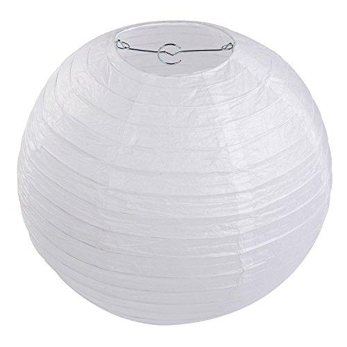 """Lampion Papier Blanc - Lot de 10 pièces, LIHAO 12""""(30cm) Lanterne Papier Boule pour Décoration de Mariage, Maison, Fête etc."""