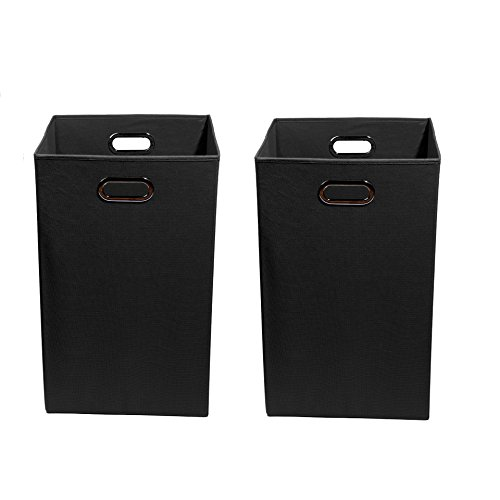 Modern Littles Smarty Pants Organization Bundle-2 Laundry Bins, Black