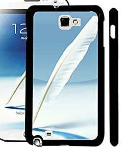 ColourCraft Lovely Feather Design Back Case Cover for SAMSUNG GALAXY NOTE 2 N7100