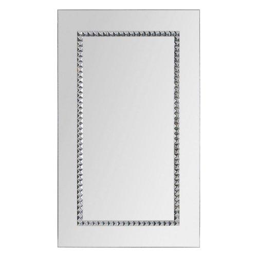 Ren-Wil Ren-Wil Embedded Jewels Wall Mirror - 24W X 40H In., Silver, Metal front-479172