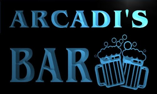 w099733-b-arcadi-name-home-bar-pub-beer-mugs-cheers-neon-light-sign