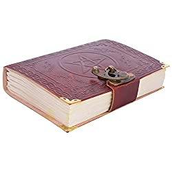 HANDICRAFTOFPINKCITY Star Design LEATHER DIARY NOTE BOOK