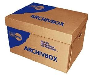 """20 Stk. Archivbox 400x320x290mm, extrem stabil, bis 250kg stapelbar / Ausführung: Braun mit Beschriftung """"Archivbox"""""""