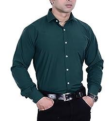 First Row Men's Formal Shirt (FRGFS006R_42_Green_42)