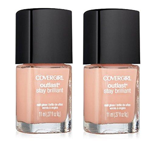 COVERGIRL-Outlast-Stay-Brilliant-Peach-Nail-Polish-125-Peaches-Cream-Pack-of-2