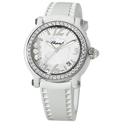 Chopard Happy Sport Round Women's White Ceramic Quartz Watch 288507-9012 from Chopard