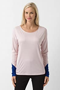 Long Sleeve Color Block Crewneck T-Shirt