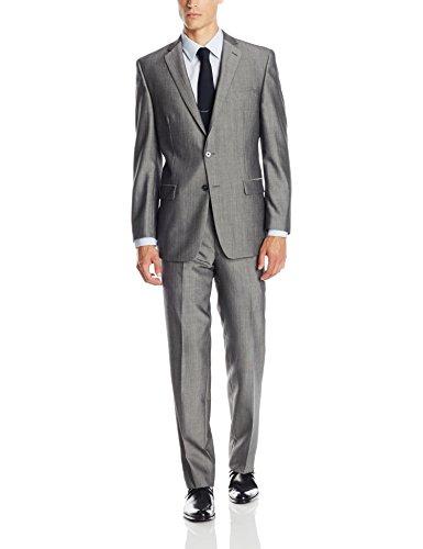 Calvin-Klein-Mens-Malik-Gray-Two-Piece-Suit
