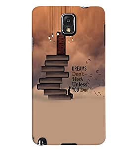 PrintVisa Quotes & Messages Dreams 3D Hard Polycarbonate Designer Back Case Cover for Samsung Galaxy Note 3
